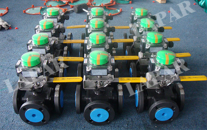 3 way Full Bore Ball Valves
