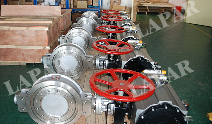 Pneumatic actuated metal seat butterfly valve