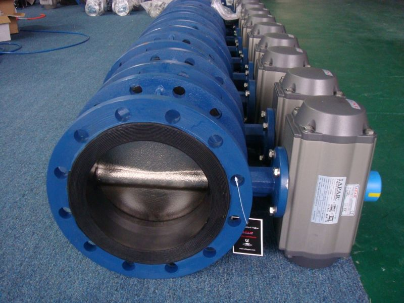 Flange type rubber seat butterfly valve
