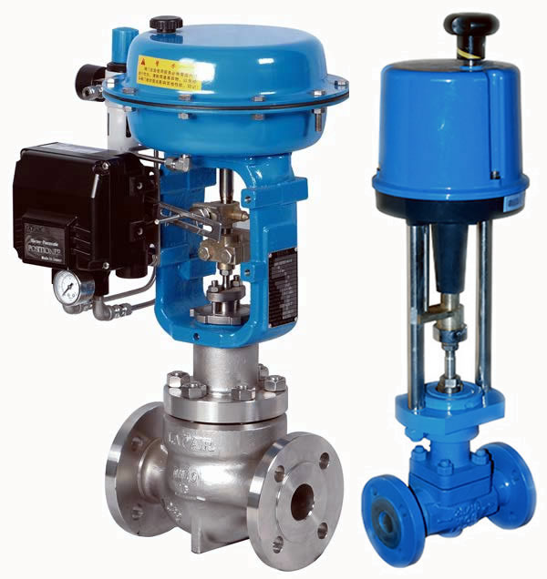 Single port control valves are designed for heavy duty service. The compact valve body, having a S-shape flow passage that features low pressure loss, allows a large flow capacity, range ability, and high accuracy flow characteristics. The valve plug is highly vibration-resistant as it is held by a top guide section which has a large sliding area. The flow shut-off performance complies with the IEC or JIS Standards. The actuator integrated with simplest mechanisms utilizes a compact yet powerful diaphragm actuator loaded with multiple springs. Single-seat control valves are widely applicable for reliable control, with high shut-off performance, in high or low temperature, high pressure process lines.